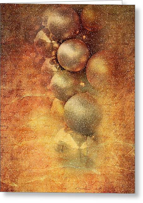 Wishes Mixed Media Greeting Cards - Christmas Greeting Card by Heike Hultsch