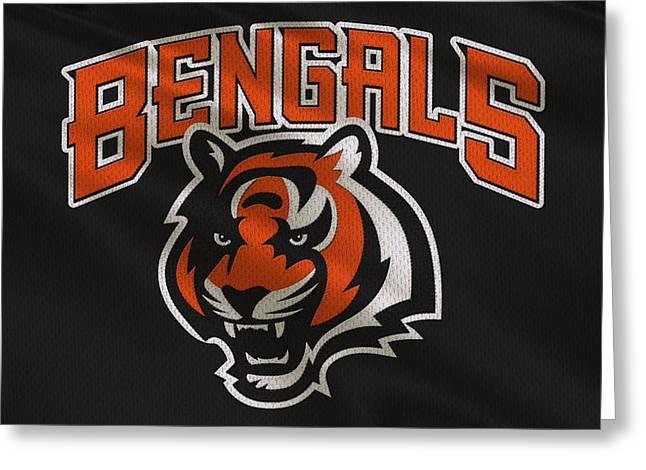 Bengal Greeting Cards - Cincinnati Bengals Uniform Greeting Card by Joe Hamilton