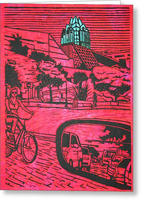 Lino Greeting Cards - City Hall Greeting Card by William Cauthern