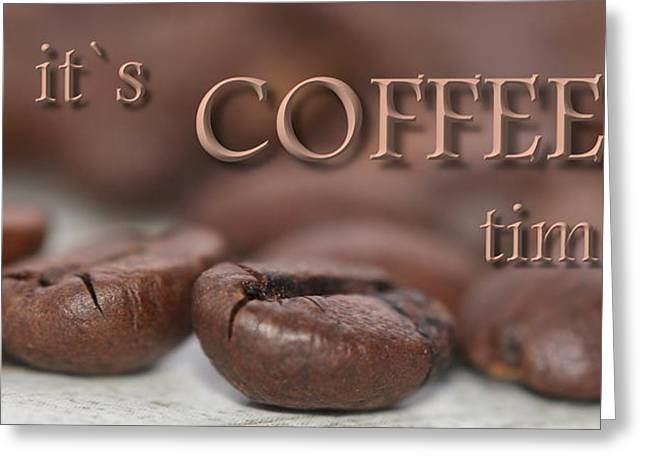 Canvas Framing Greeting Cards - Coffee Greeting Card by Heike Hultsch