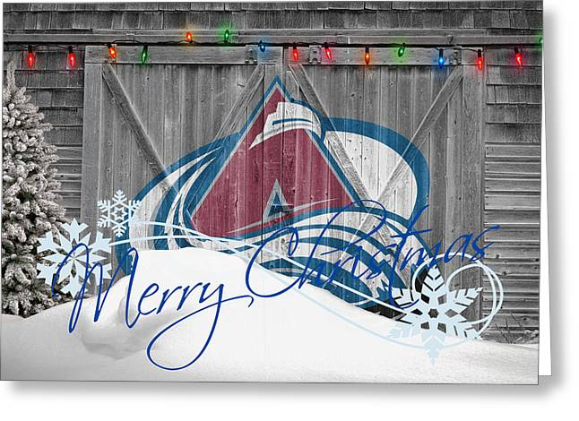 Skates Greeting Cards - Colorado Avalanche Greeting Card by Joe Hamilton