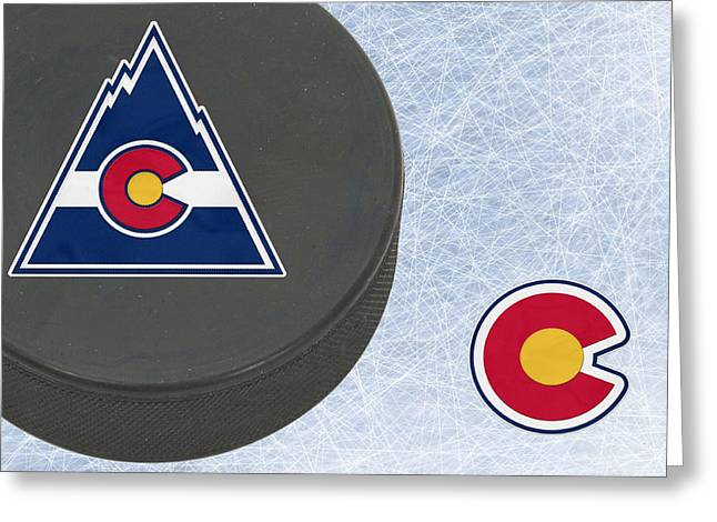 Skates Greeting Cards - Colorado Rockies Greeting Card by Joe Hamilton