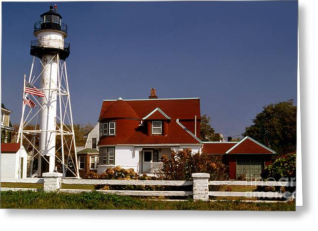Lighthouse Photography Greeting Cards - Coney Island Lighthouse Greeting Card by Skip Willits