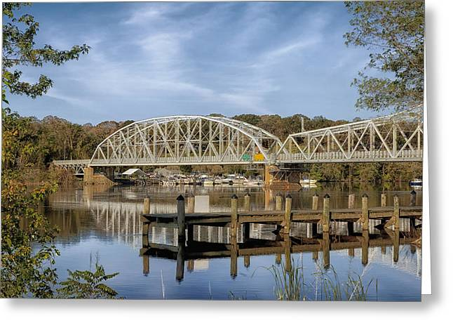 East Haddam Greeting Cards - Connecticut River Scene Greeting Card by Mountain Dreams