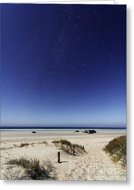 Moon Beach Greeting Cards - Constellations Greeting Card by Laurent Laveder