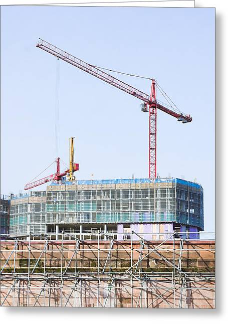 Legislation Greeting Cards - Construction site Greeting Card by Tom Gowanlock