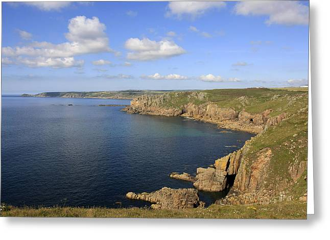 Ocean Panorama Greeting Cards - Cornish Coast Greeting Card by Chris Smith