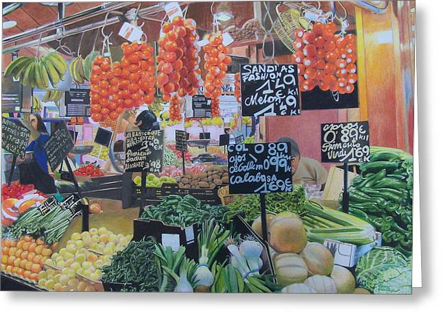 Greengrocer Greeting Cards - Cornucopia Greeting Card by Constance Drescher
