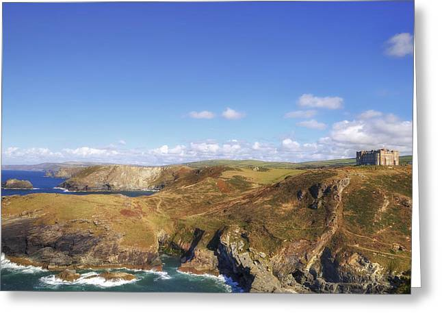 King Arthur Greeting Cards - Cornwall - Tintagel Greeting Card by Joana Kruse