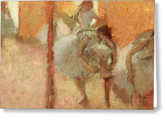 Dancing Girl Greeting Cards - Dancers Greeting Card by Edgar Degas