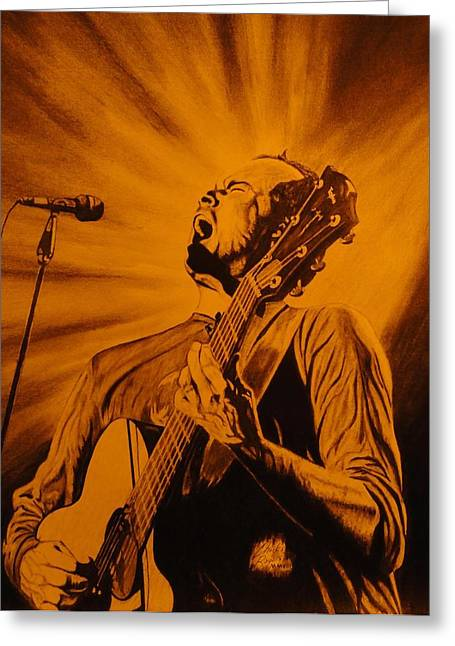 The Dave Matthews Band Drawings Greeting Cards - Dave Matthews Greeting Card by Charles Rogers