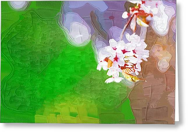 Easter Flowers Paintings Greeting Cards - Decorative Painting Flowers Greeting Card by Victor Gladkiy
