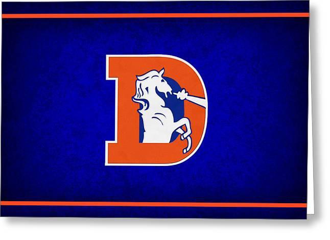 Broncos Greeting Cards - Denver Broncos Greeting Card by Joe Hamilton