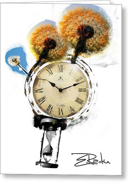 Digital Art - Er Ink Greeting Card by Enache  Radu