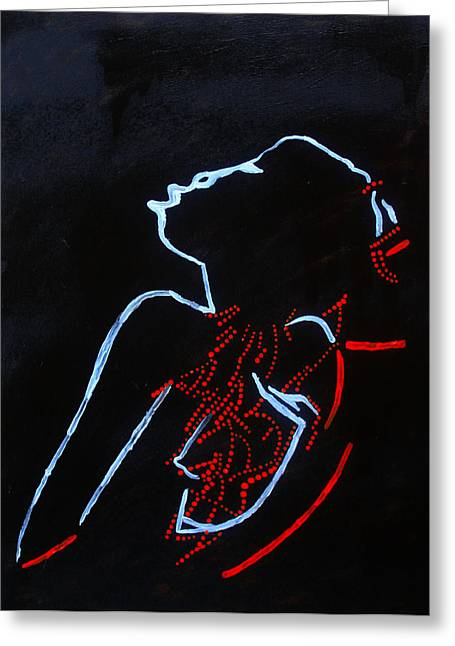 Dinka Silhouette - South Sudan Greeting Card by Gloria Ssali