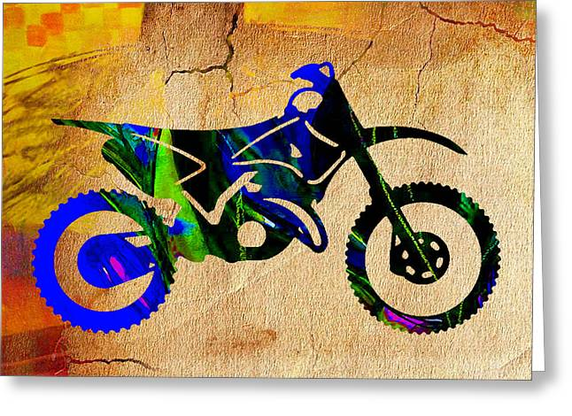 Bike Greeting Cards - Dirt Bike Greeting Card by Marvin Blaine