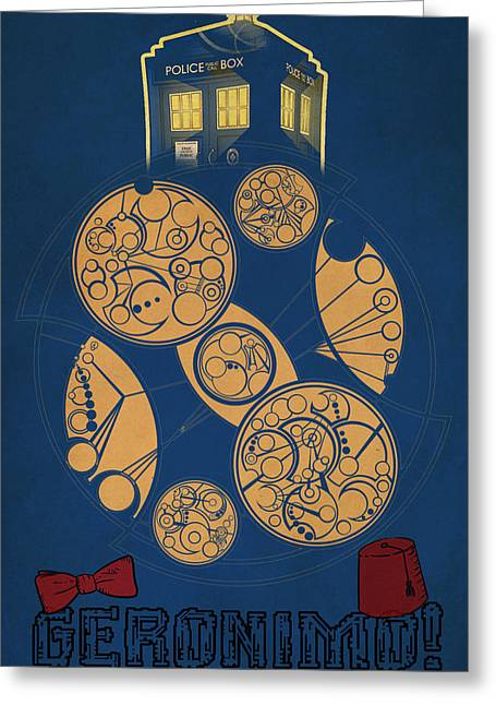 Time And Space Greeting Cards - Doctor Who Greeting Card by FHT Designs