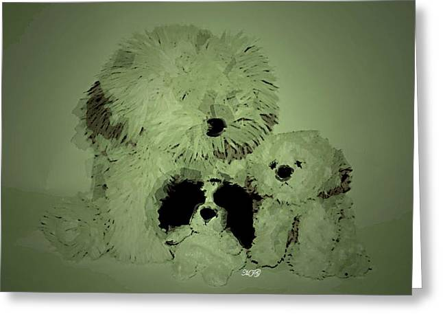 Amazing Ceramics Greeting Cards - Doggys Greeting Card by Michael James Greene