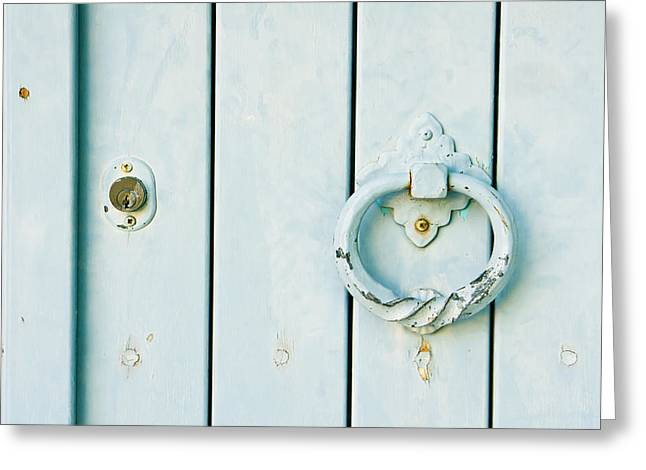Door Knocker Greeting Card by Tom Gowanlock