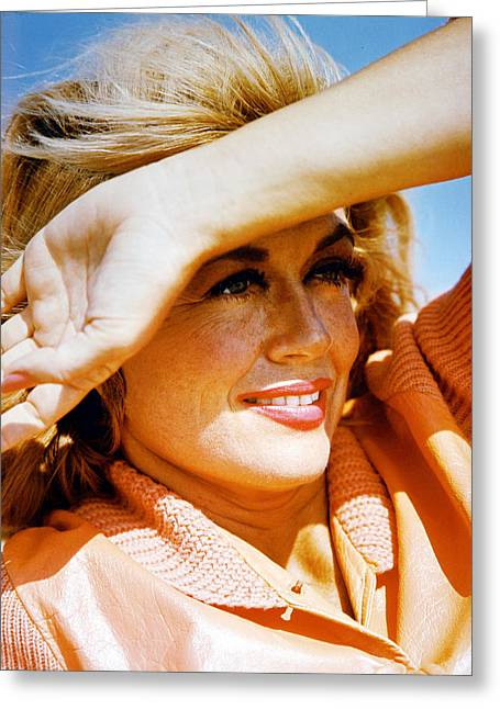 Malone Greeting Cards - Dorothy Malone Greeting Card by Silver Screen