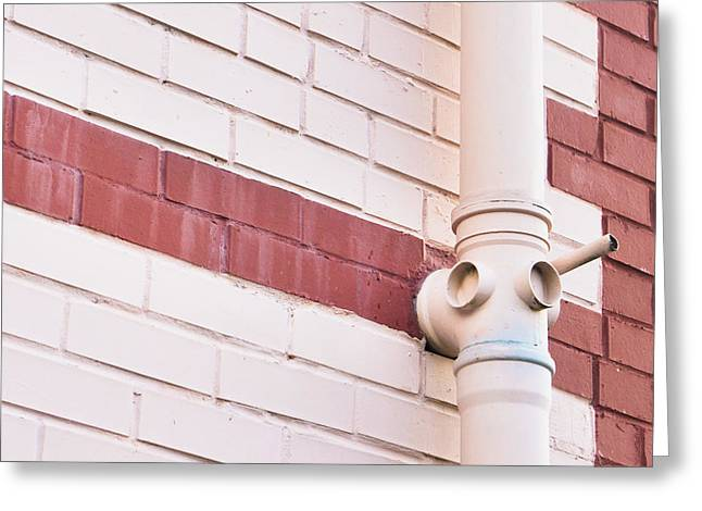 Gutter Greeting Cards - Drainpipe Greeting Card by Tom Gowanlock