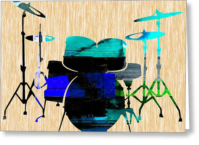 Drums Greeting Card by Marvin Blaine