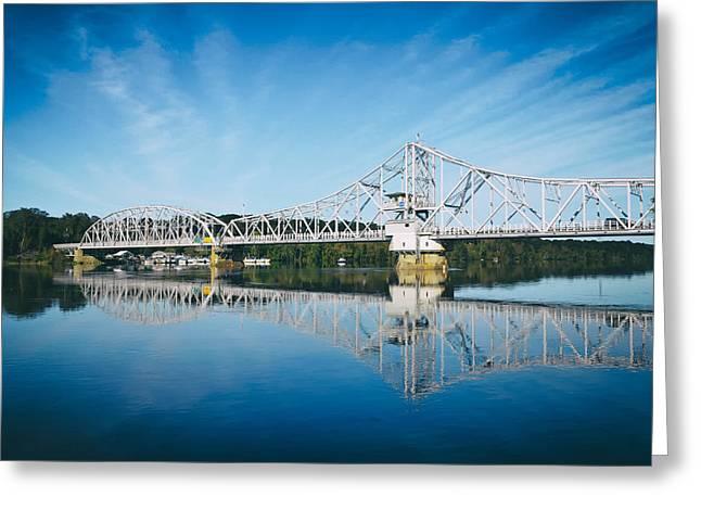 East Haddam Greeting Cards - East Haddam Bridge Greeting Card by Mountain Dreams