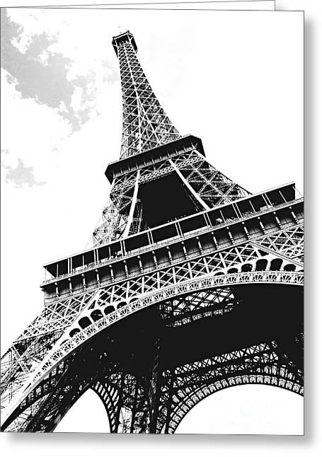White Photographs Greeting Cards - Eiffel tower Greeting Card by Elena Elisseeva