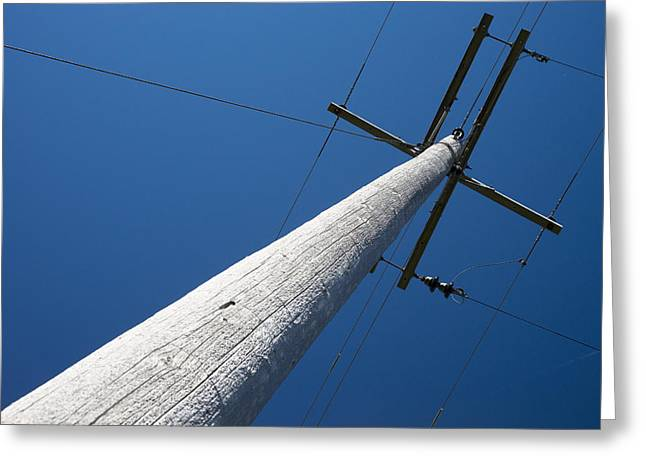 Electric Pylon Greeting Cards - Electrical Power Transmission Greeting Card by Donald  Erickson