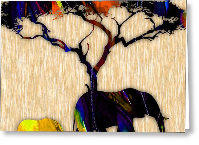 Jungle Greeting Cards - Elephant Greeting Card by Marvin Blaine
