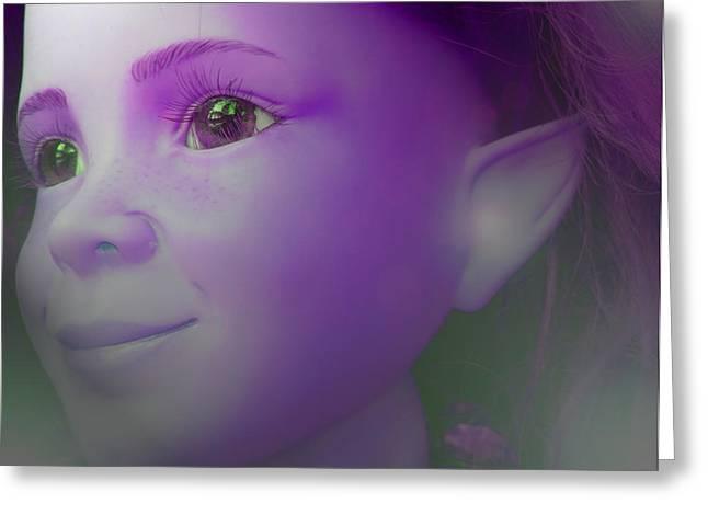 Kinderzimmer Greeting Cards - Elves-Child Greeting Card by Ramon Labusch