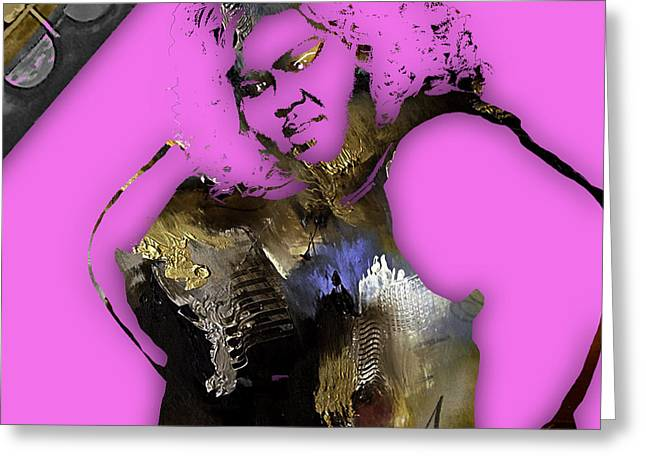 Becky Mixed Media Greeting Cards - Empires Gabourey Sidibe Becky Greeting Card by Marvin Blaine