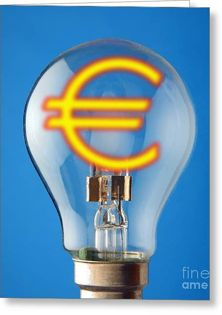 Energy Currency Greeting Cards - Energy Costs, Conceptual Image Greeting Card by Victor de Schwanberg