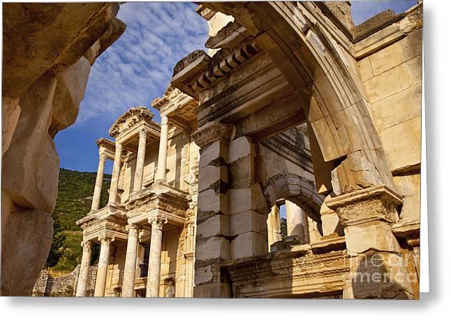 Ephesus Turkey Greeting Card by Brian Jannsen