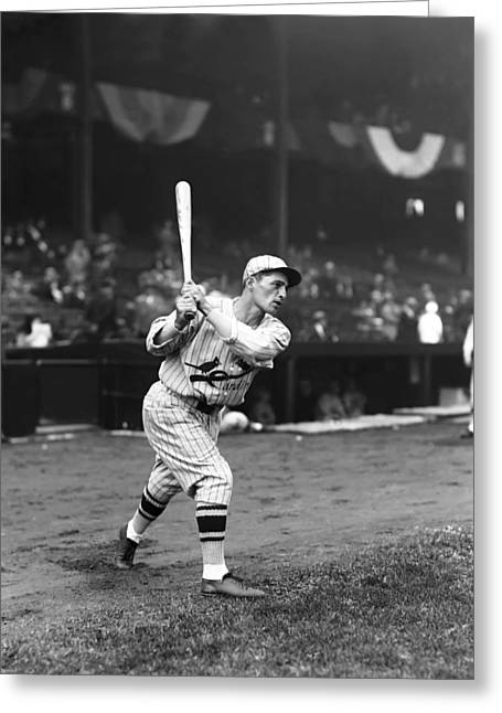 Baseball Bat Greeting Cards - Ernesto R. Ernie Orsatti Greeting Card by Retro Images Archive