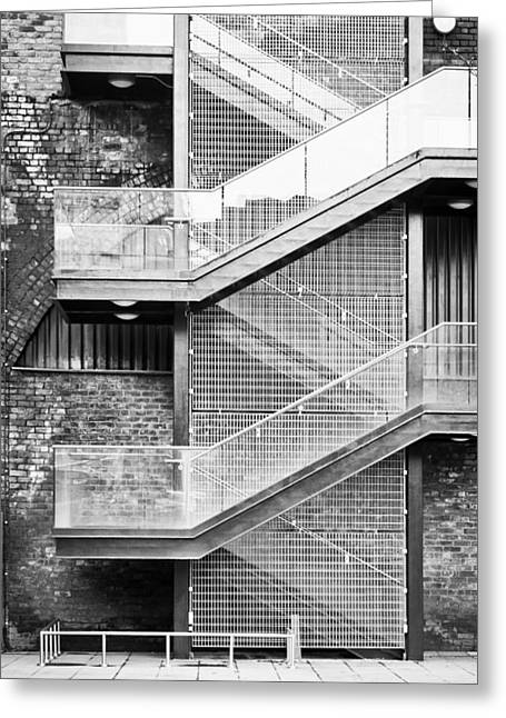 Legislation Greeting Cards - Exterior stairs Greeting Card by Tom Gowanlock