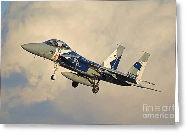 Aggressor Greeting Cards - F-15dj Eagle Of The Japan Air Self Greeting Card by Phil Wallick
