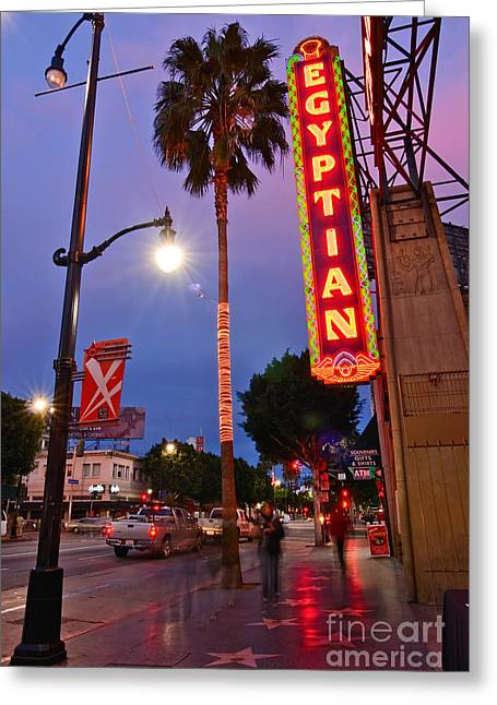 Egyptian Theatre Greeting Cards - Famous Egyptian Theater in Hollywood California. Greeting Card by Jamie Pham