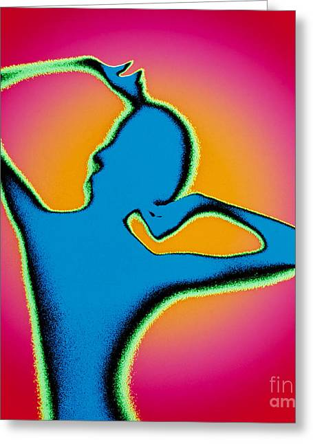 Strech Greeting Cards - Female Figure Greeting Card by Bill Longcore