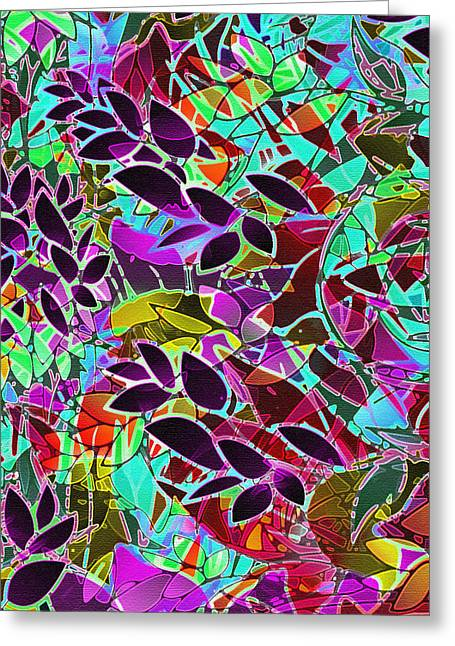 Abstract Digital Greeting Cards - Floral Abstract Artwork Greeting Card by Medusa GraphicArt