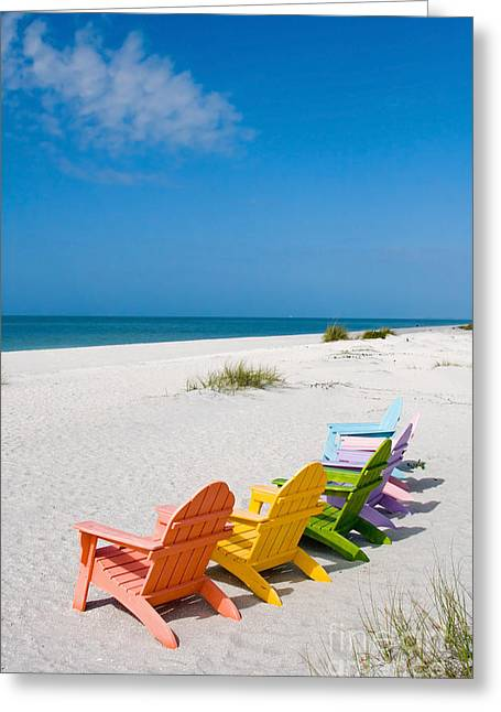 Captiva Greeting Cards - Florida Sanibel Island Summer Vacation Beach Greeting Card by ELITE IMAGE photography By Chad McDermott