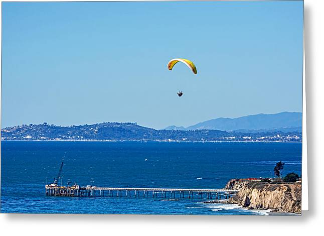 Rincon Beach Greeting Cards - Flying Greeting Card by Elijah Weber