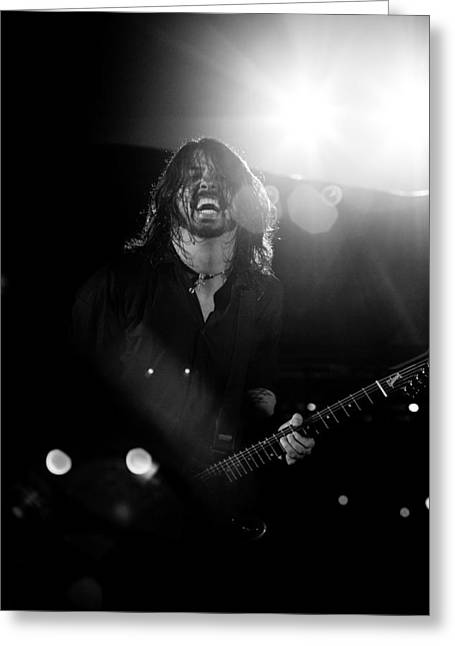 Foo Fighters Greeting Card by Ben James