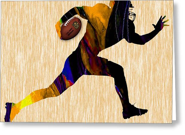 Pro Football Mixed Media Greeting Cards - Football Greeting Card by Marvin Blaine