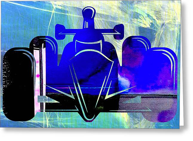 Formula One Race Car Greeting Card by Marvin Blaine