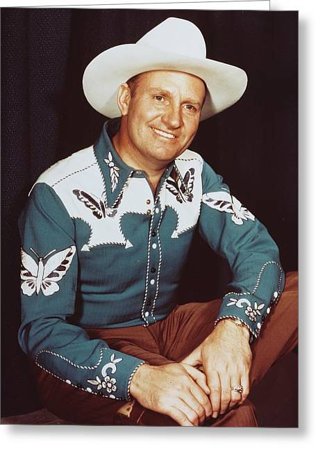 Autry Greeting Cards - Gene Autry Greeting Card by Silver Screen