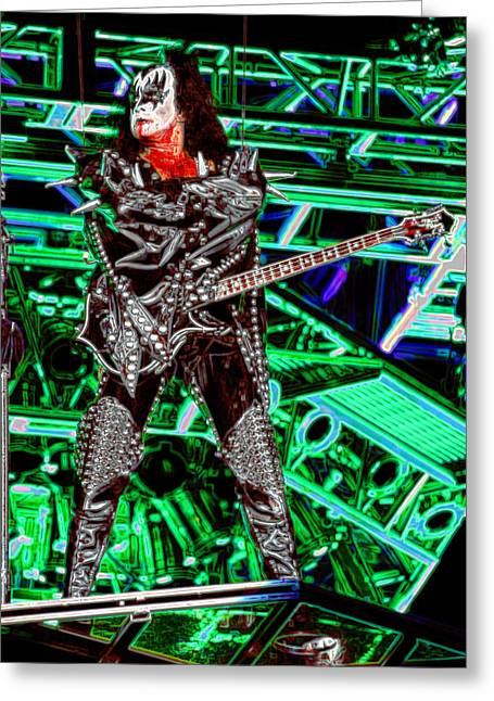 Nashville Songwriters Hall Of Fame Greeting Cards - Gene Simmons - KISS Greeting Card by Don Olea