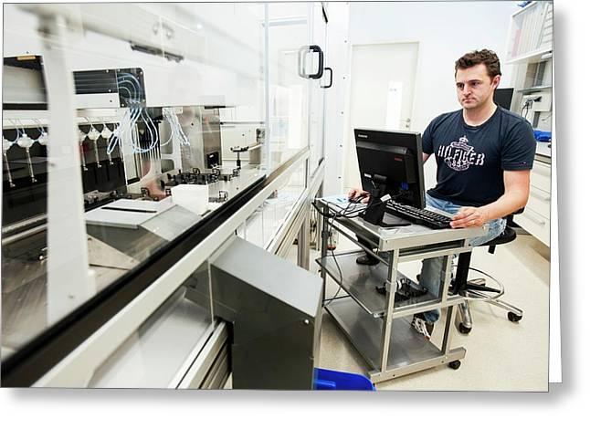 Genetic Analysis Greeting Card by Arno Massee