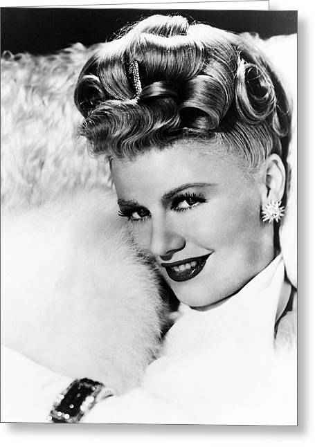 Rogers Greeting Cards - Ginger Rogers Greeting Card by Silver Screen