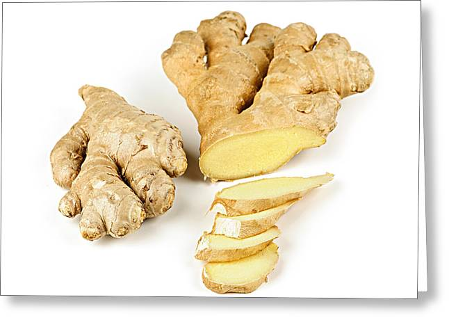 Ginger Root Greeting Card by Elena Elisseeva